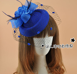 Wholesale Cocktail Hats Tulle Hand Made Flower Sexy New Arrive Cheap Modest Fashion Girls Hat Bridal Hat Wedding Accessories In Stock Free