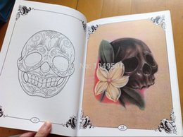 Wholesale tattoo books A4 size pages DAMIEN VOSS FRIESZ REMEMBER DEATH SKULL Skulls Series Skeleton Design Tattoo Art Book Flash Vol Volume two