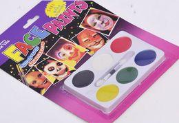 Wholesale European Cup fans Cheer Face Paint Six color disc support customiszed