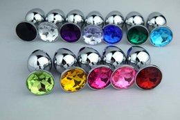 Símbolo do Coração Unisex metal termina tampões de metal Anal butt plug / Booty Beads aço inoxidável de cristal jóias Produtos sexo 80 * 30 * 33 10pcs