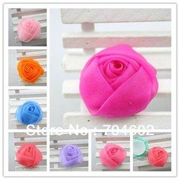 Wholesale Venta al por mayor hágalo usted mismo gasa de tul flores de Rose bebé de la venda de la flor del pelo accesorios liberan el envío