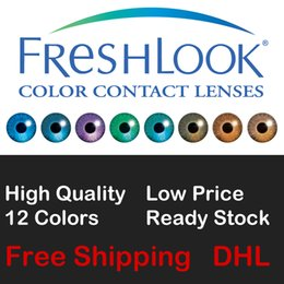 Wholesale Freshlook tone colored contacts crazy lenses with packing boxes colors free DHL shipping ready stock