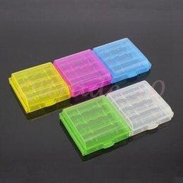 Caja de almacenaje dura del sostenedor de la caja plástica del color del caramelo de la alta calidad de 600pcs CCA3016 para la caja de almacenaje plástica del sostenedor de la batería Sudries de AA AAA