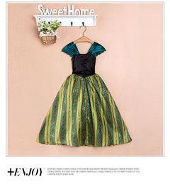 Wholesale 905 Frozen princess dress girls Elsa Yishaaisuo holiday party costume dress child