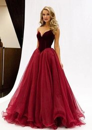 Wholesale Wow Burgundy Dresses Evening Wear Sweetheart Ruffles Draped Arabic Women Formal Prom Party Gowns Custom Made