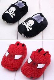 Wholesale Baby First Walker Zapatos superhéroe hombre araña superhombre antideslizante Slip On zapatos chica chico algodón de dibujos animados Athletic Casual Shoes Regalo de Navidad