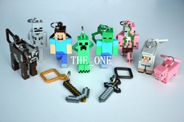 Wholesale minecraft hanger creeper figure backpack keychain minecraft hanger creeper action figure minecraft key chain