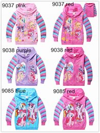 Wholesale 6 Colors My Little Pony Children s Hoodies Sweatshirts Spring Autumn Cartoon Long Sleeve Girls hooded Jacket for kids Cothes