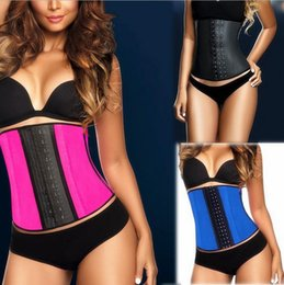 Wholesale XS XL Colors Women Latex Rubber Waist Training Cincher Waist Training Belt Kim Underbust Corset Body Shaper Shapewear