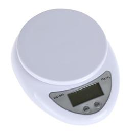 60pcs / lot del hogar del LCD 5 kg dieta de la cocina Peso Postal de balance de la escala portable electrónica digital 5000g x 1g