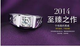 Wholesale Hot sale Fashion Sterling Silver Rings mens rings zircon Imitation diamond Slipknot Rings Birthday present