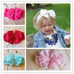 Wholesale 2015 new mix colour Lace Bow Headwrap Off Stretch Lace Bow Headband baby headband Vintage Head Wrap Photo Prop Hair Accessories