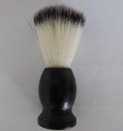 Shaving Brush Black Wooden handle total 10.5CM 20PCS / LOT com melhor preço e alta qualidade