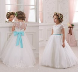 Discount Turquoise Yellow Flower Girl Dresses - 2017 Turquoise ...