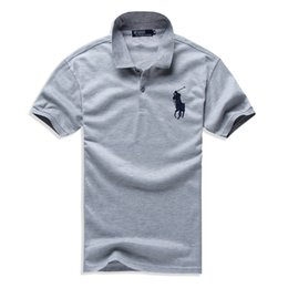 Wholesale new Small horse men shirt O neck short sleeve polo shirt brand Ralph men polo shirts casual style sport cotton t shirt