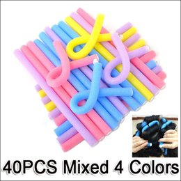 Wholesale Fashion Hair Tool Accessories Mix Colors Hair Curler Makers Soft Foam Rollers Bendy Twist Curls Tool