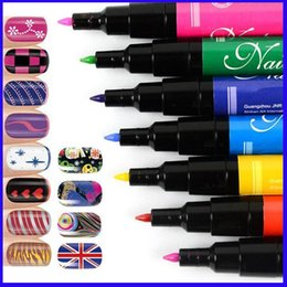 Wholesale Fashion Nail Tools D paint nail art pen multicolor DIY Nail polish pen Nail Brush for women lady nail oil