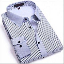 Wholesale Top fabric quality silk men shirt long sleeve brand Assembling Add hair thickening keep warm shirts for men