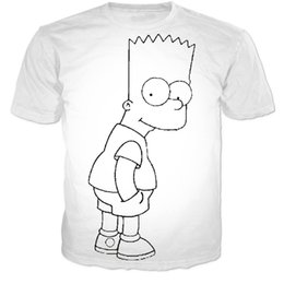 New Fashion Anime Character Simpson Sketch Print 3d T Shirt Women Men Summer Harajuku T Shirts Casual Tees Sport Tops Camisetas