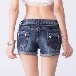 Wholesale 2015 New Fashion women s jeans Summer Mid Waist Stretch Denim Shorts Slim Korean Casual women Jeans Shorts Hot Plus Size