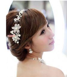 Wholesale In Stock Hot Sale Cheap Wedding Bridal Hair Accessories Jewelry Fancy Pearl Tiaras headdress