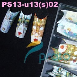 Wholesale x BRAND NEW airbrushed face mask design nail tips designer nail art tips tips package PS13 U13 S SKU A0068