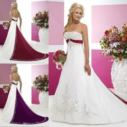 Strapless Purple Empire Wedding Dress Online | Strapless Purple ...