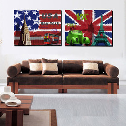 2 piece modern home decor canvas painting us uk style scene art decorative picture for sitting