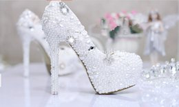 Wholesale 2015 Wedding Shoes Fashion Silver Rhinestone Beaded Women High Heels Bridal Evening Prom Party Bridesmaid Shoes