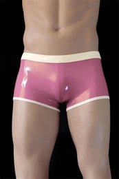 Wholesale 100 Nature Latex Short Pants Sexy Under Shorts Pants mm Latex Rubber Underwear Shorts Breeches Bloomers for Men