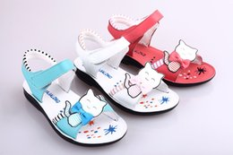Wholesale 3 Colors New style Spring Summer Fashion Children Sandals Genuine Leather sandals for kids