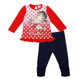 Wholesale fashion new autumn Baby girl clothing sets for cut long sleeve cartoon legging clothes set