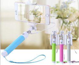 Selfie Monopod plegable autofoto del palillo con la ranura del cable de la pole del disparador automático kit extensible Monopod de mano con caja al por menor