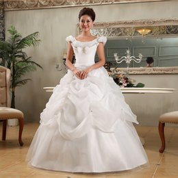 Wholesale New arrival double shoulder puff sleeve fashion sexy plus size maternity ball gowns wedding dress bridal gown bridal dress