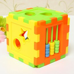 Childrens Wooden Shape Sorter Sorting Blocks Box Kids Wood Puzzle ...