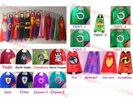 Wholesale Superhero Cape Superman Batman Spiderman Teenage Mutant Ninja Turtle Frozen Flash Supergirl Batgirl Robin kids capes