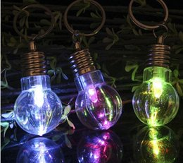new creative led lighting bright mini light bulb colorful flash key chain ring keychain christmas dress up carnival special gifts bright special lighting