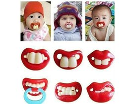 Wholesale Funny Dummy Dummies Baby Pacifiers Novelty Teeth Moustache Kid Children Soother Pacifiers dhl FREE