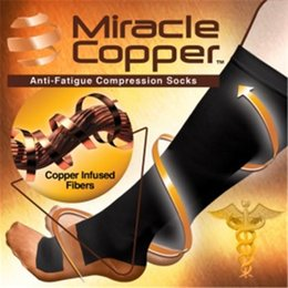 Wholesale Comfortable Relief Soft Unisex Miracle Copper Anti Fatigue Compression Socks Helping To Relieve Aches Pains With Logo Packing