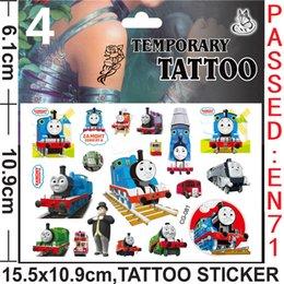 Wholesale Thomas train Tattoos Stickers Thomas train Temporary Tattoos Thomas train Body Tattoos Kids Cartoon Tattoos size cmx10 cm H0365