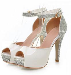 Discount White Diamond Heels Peep Toe   2017 White Diamond Heels ...