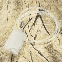 Wholesale 2015 Nueva plástico transparente T Tubo filtro del acuario Hose Pipe Cepillo de limpieza Limpiador Usseful Hose Pipe Cepillo de limpieza para Cleaner pista Nadie