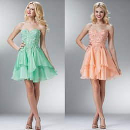 Wholesale 2015 Sexy Dresses Party Teen Elegant Formal Dress Bling Beaded Lace Applique Sweetheart Open Back A Line Hunter Green Chiffon Prom Dress