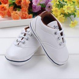 Wholesale New Baby Girls Fabic Walker Shoes Newborn Boys Soft Bottom Non slip Shoes Kids White Stripe Prewalker Shoes Children Superman Shoes