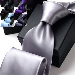 Wholesale Men s tie up business professional wedding the groom multicolor tie cm wide pure color tie