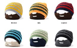online shopping winter striped knit ski face mask beanie crochet beard hats unisex balaclava bonnets homme casquette funny gift hats