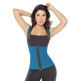 Wholesale Newest Women Ultra Compresion Sweat Neoprene Body Shaper Thermal T shirt Gym Enhancing Thermal Vest With Shoulder Straps Sports