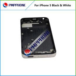 Feee DHL FEDEX груза назад Крышка батарейного отсека чехол с средней рамки Сборка Полный жилищно Замена Белый Черный цвет для iphone 5 5G