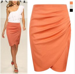 Wholesale Office Woman Skirt summer Knee length Pencil Skirts Plus Size Casual Formal Step OL Suit Business skirts