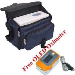 Grosses soldes! Concentrateur d'oxygène portable + couleur OLED Fingertip oxymètre de pouls avec alarme Réglage et Bip sonore